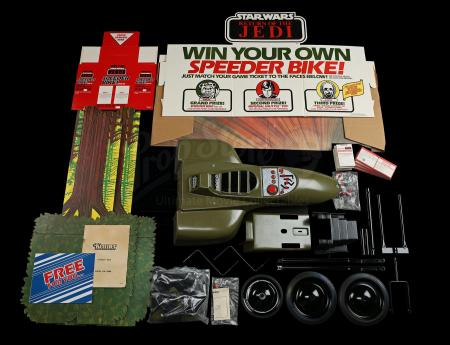 Lot # 117 - Ride-On Speeder Bike and Store Display (Unused) with Original Shipping Box