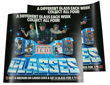 Lot # 118 - ROTJ Burger King Glasses Translite