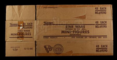 Lot # 119 - ROTJ Miniature Figures Shipping Box