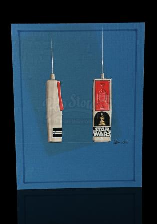 Lot # 129 - Radio Controlled R2-D2: Hand-Painted Remote Control Concept Artwork