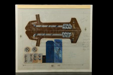Lot # 131 - Radio Controlled R2-D2: Hand-Painted Remote Control Sticker Final Artwork