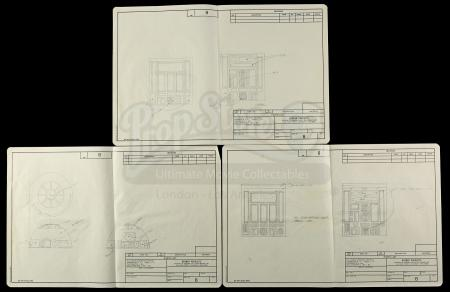 Lot # 134 - Radio Controlled R2-D2: Hand-Drawn Set Of 3 Remote Drawings