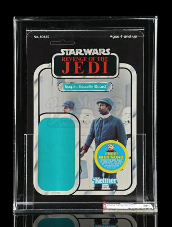 Lot # 153 - ROTJ Proof Card - Bespin Security Guard (Black) 48A AFA 85