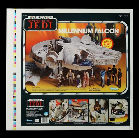 Lot # 158 - ROTJ Proof Sheet - Millennium Falcon AFA 85