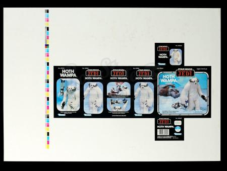 Lot # 159 - ROTJ Proof Sheet - Hoth Wampa AFA 80