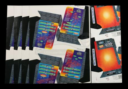 Lot # 166 - Micro Machines Attack Fleet Cardback Proof Sheets