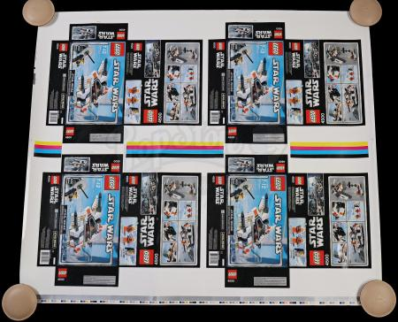 Lot # 168 - Lego Rebel Snow Speeder #4500 Proof Sheet