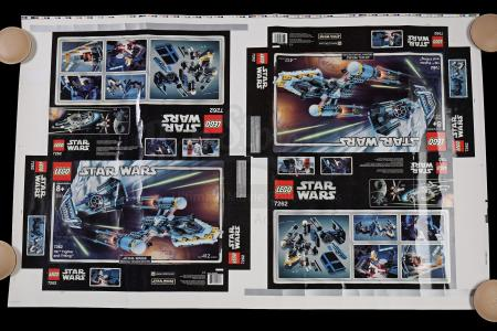 Lot # 169 - Lego TIE Fighter And Y-Wing #7262 Proof Sheet