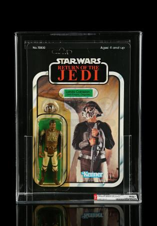 Lot # 240 - Lando Calrissian (Skiff Guard Disguise) ROTJ65A AFA 80Y+