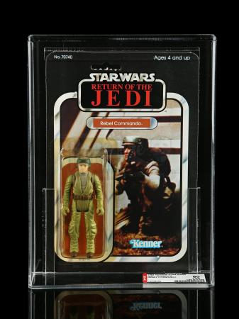 Lot # 242 - Rebel Commando ROTJ65A AFA 80Y