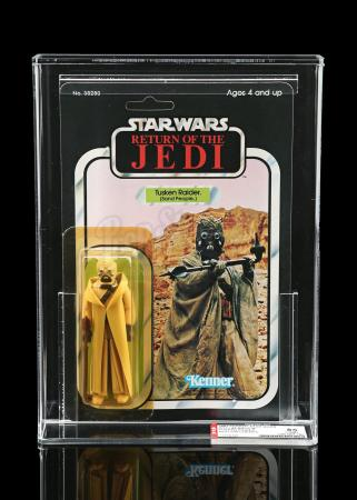 Lot # 246 - Tusken Raider with Hollow Cheek Tubes ROTJ65B AFA 85Y