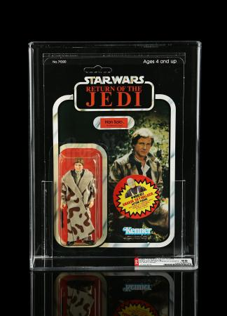 Lot # 248 - Han Solo (In Trench Coat) ROTJ77B - Anakin Offer AFA 85Y