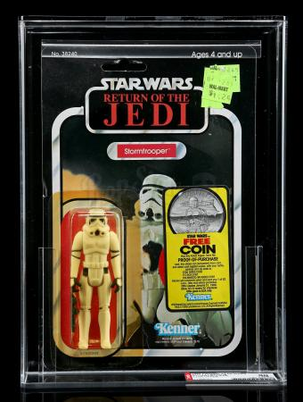 Lot # 255 - Stormtrooper ROTJ77B (With Coin Offer) AFA 80Y
