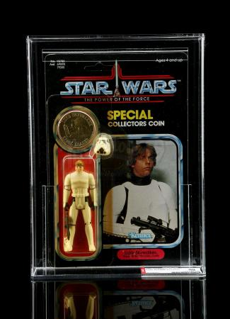 Lot # 287 - Luke Skywalker (Imperial Stormtrooper Outfit) POTF AFA 80Y