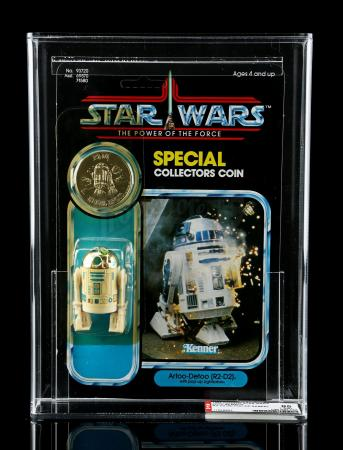 Lot # 290 - R2-D2 With Pop-Up Lightsaber POTF AFA 85Y