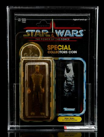 Lot # 291 - Han Solo (In Carbonite Chamber) POTF AFA 85Y