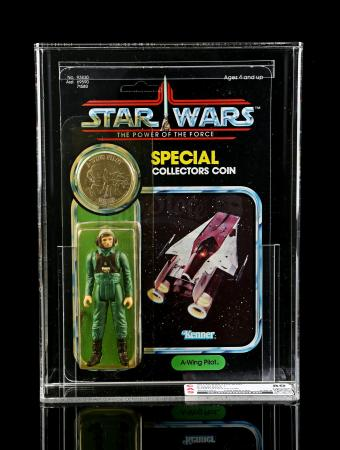 Lot # 292 - A-Wing Pilot POTF CAS 80Y