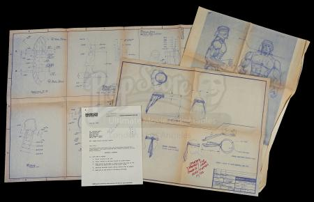 Lot # 516 - Rambo Figure Blueprints