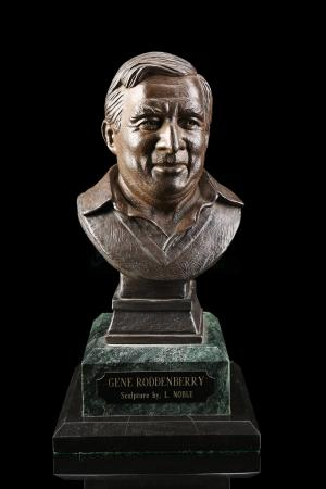 "Lot # 556 - Gene Roddenberry 12"" Solid Bronze Bust (Lawrence Noble, 1992)"