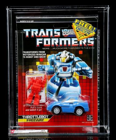 Lot # 598 - Freeway Series 4 Throttlebot With Red Decoy AFA 85