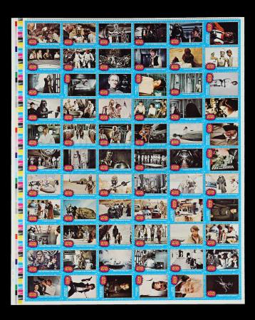Lot # 617 - Topps Trading Cards Uncut Sheet (1st Series)