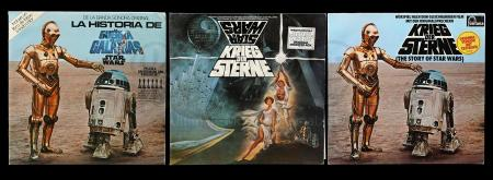 Lot # 625 - 3 Star Wars Records With Sleeves