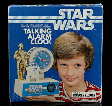 Lot # 636 - Star Wars Talking Alarm Clock - Unused [Kazanjian Collection]