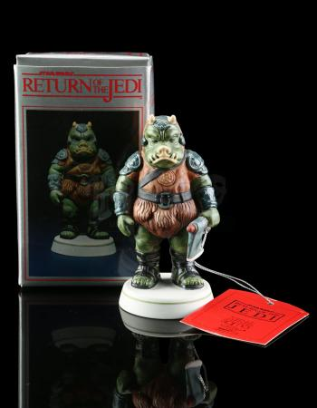 Lot # 647 - Hand-Painted Gamorrean Guard Porcelain Figurine [Kazanjian Collection]