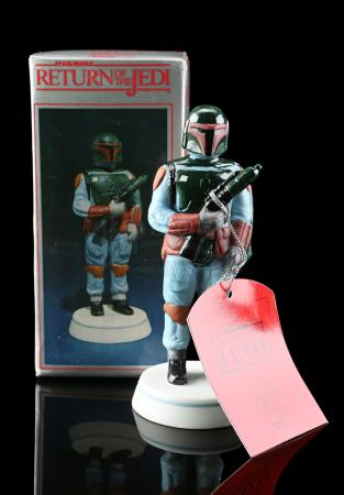 Lot # 648 - Hand-Painted Boba Fett Porcelain Figurine [Kazanjian Collection]