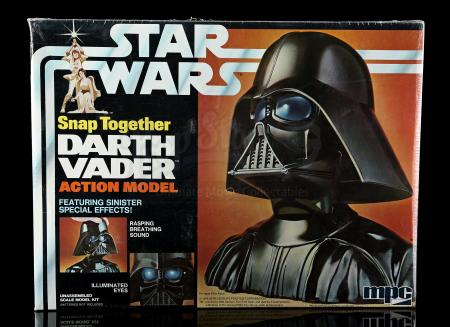 Lot # 656 - Snap-Together Darth Vader Model - Sealed [Kazanjian Collection]