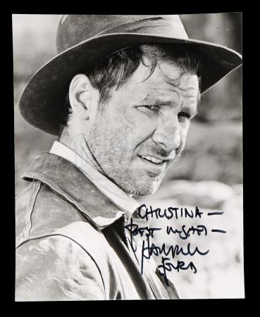 Lot # 681 - Harrison Ford-Autographed Indiana Jones Photo