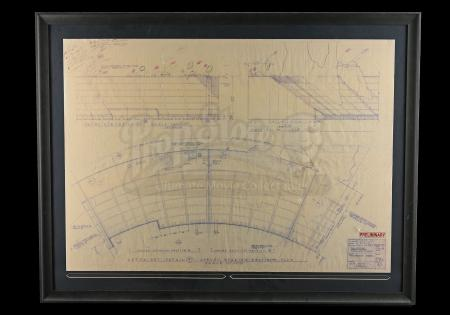 Lot # 697 - Framed Pod Race Arena Blueprint