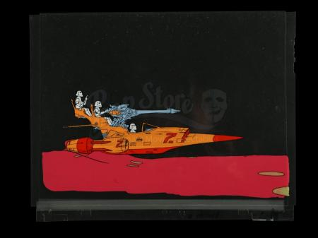 Lot # 701 - Stormtroopers On Speeder Original Animation Cel
