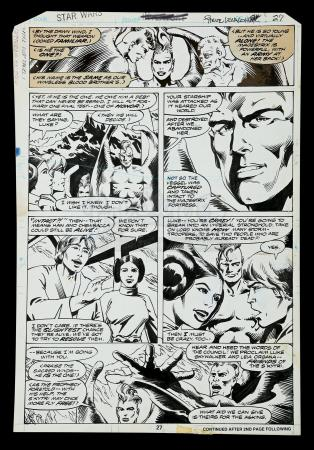 Lot # 702 - Hand-Drawn Original Art Used to Create Page 27 of SW Annual #1 (Vosburg & Leialoha)