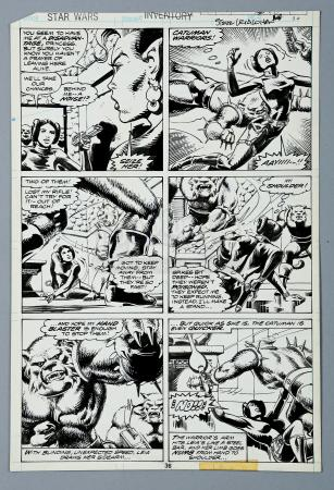 Lot # 703 - Hand-Drawn Original Art Used to Create Page 38 of SW Annual #1 (Vosburg & Leialoha)