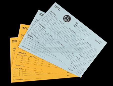 Lot # 711 - 4 ILM Paper Time Cards