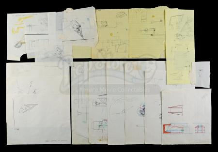 Lot # 724 - Hand-Drawn Charlie Bailey Snow Speeder Air Brake Drawings