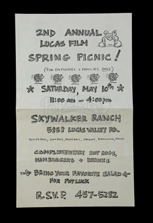 Lot # 730 - 2nd Annual Lucasfilm Spring Picnic Flyer