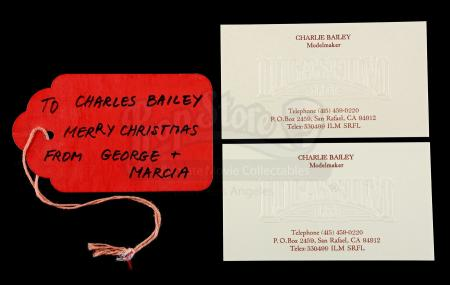 Lot # 731 - Charles Bailey Christmas Tag And 2 Business Cards