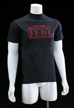 "Lot # 768 - Black ""Revenge Of The Jedi"" Crew Shirt [Kazanjian Collection]"