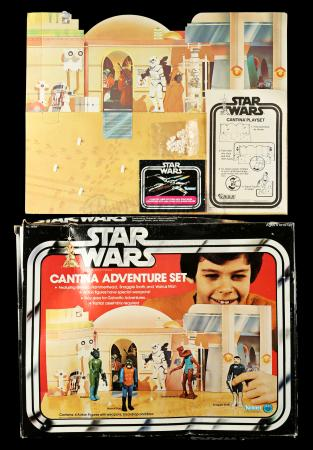 Lot # 39 - Cantina Adventure Set (Sears Exclusive) - Box and Backdrop Only [Kazanjian Collection]