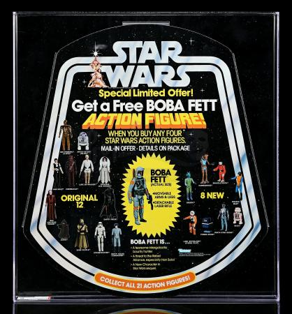 "Lot # 110 - ""Get A Free Boba Fett"" Bell Display AFA 95"