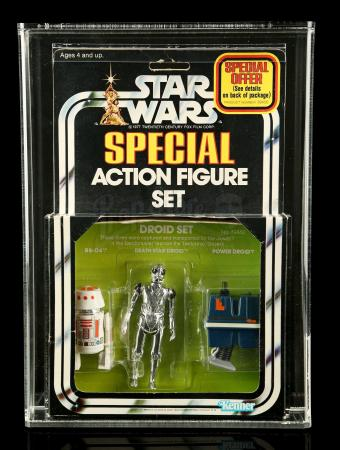 Lot # 301 - Droid Set SW Series 2 3-Pack AFA 80