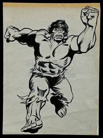 Lot # 461 - Hand-Drawn Original Hulk Artwork By Errol McCarthy