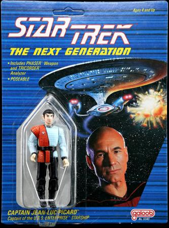 Lot # 536 - Romulan on Captain Jean-Luc Picard Cardback Prototype (Unproduced) - Sealed