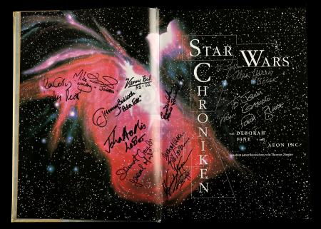 Lot # 659 - Autographed German Star Wars Chronicles Book (#3828/5000)