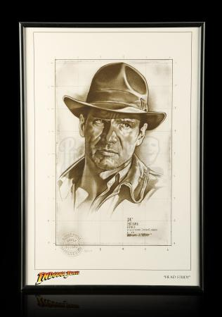 "Lot # 682 - Indiana Jones ""Head Study"" Giclée By Lawrence Noble (#13/145)"