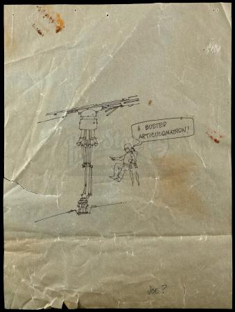 "Lot # 723 - ""Gag"" Drawing Attributed to Joe Johnston"