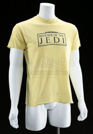 "Lot # 770 - Yellow ""Revenge Of The Jedi"" Crew Shirt"